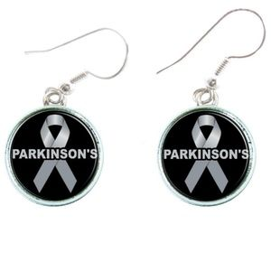 Parkinson's Disease Awareness Ribbon Earrings